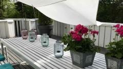 Hunajakoto, big table on the terrace