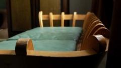 Hunajakoto, old wooden sofa